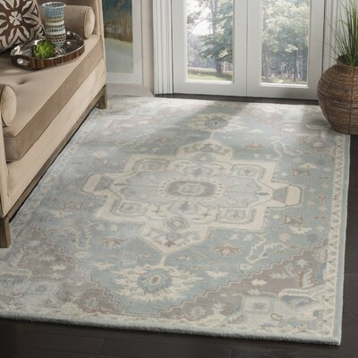 Moss Hand Tufted Wool Gray Oriental Area Rug Rug Size: Rectangle 3 x 5