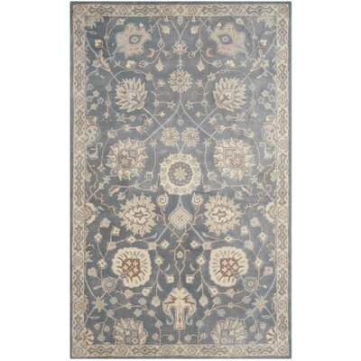 Moss Hand Tufted Wool Gray Area Rug Rug Size: Rectangle 5 x 8