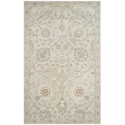 Moss Hand Tufted Wool Gray Area Rug Rug Size: Rectangle 3 x 5