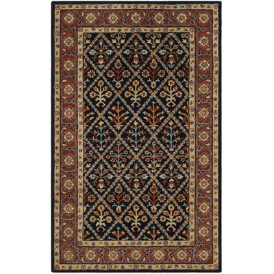Moss Traditional Hand Tufted Wool Brown Area Rug Rug Size: Rectangle 6 x 9