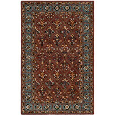 Moss Traditional Hand Tufted Wool Brown Area Rug Rug Size: Rectangle 5 x 8
