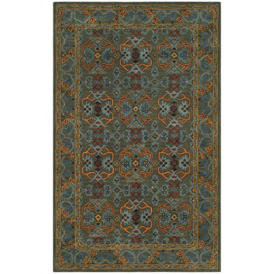 Moss Hand Tufted Wool Green Area Rug Rug Size: Square�6