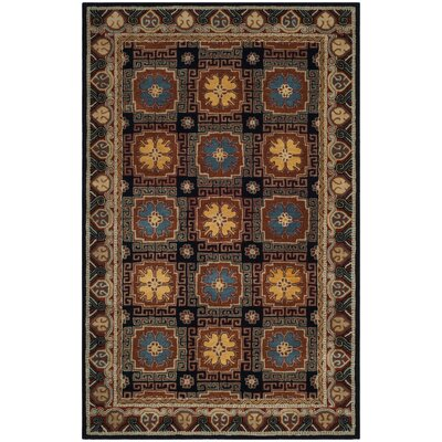Moss Hand Tufted Wool Brown Area Rug Rug Size: Rectangle 4 x 6