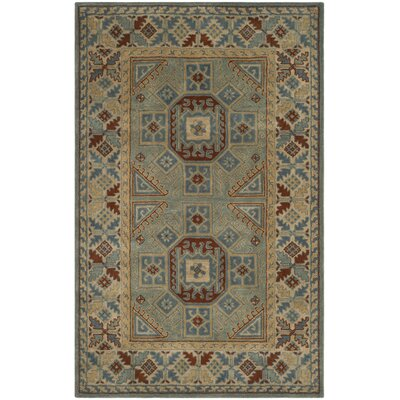 Moss Hand Tufted Wool Blue Area Rug Rug Size: Rectangle 6 x 9