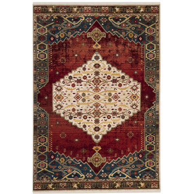 Murphy Red Area Rug Rug Size: Rectangle 51 x 75