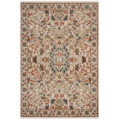 Murphy Traditional Ivory Area Rug Rug Size: Rectangle 51 x 75