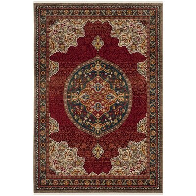 Murphy Red Oriental Area Rug Rug Size: Rectangle 8 x 10