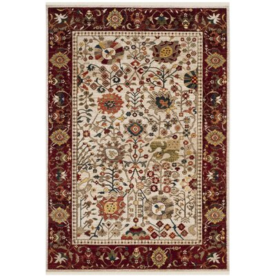 Murphy Ivory Area Rug Rug Size: Rectangle 51 x 75