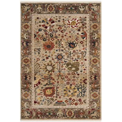 Murphy Beige Area Rug Rug Size: Rectangle 51 x 75