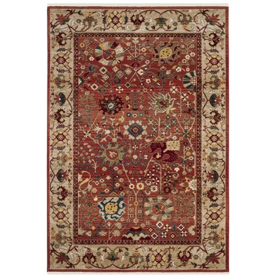 Murphy Traditional Red Area Rug Rug Size: Rectangle 51 x 75