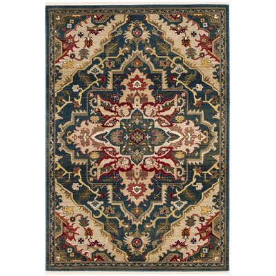 Murphy Green Area Rug Rug Size: Rectangle 51 x 75