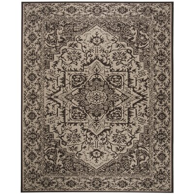 Allie Contemporary Beige/Black Area Rug Rug Size: Runner 2 x 8