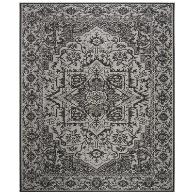 Allie Contemporary Light Gray Area Rug Rug Size: Rectangle 51 x 76