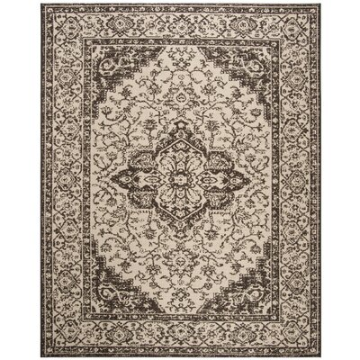 Allie Brown Area Rug Rug Size: Round 67
