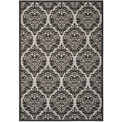 Burnell Boho Light Gray Area Rug Rug Size: Rectangle 51 x 76