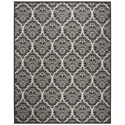 Burnell Boho Light Gray Area Rug Rug Size: Rectangle 8 x 10
