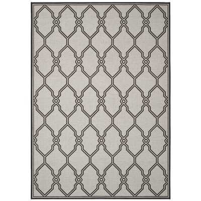 Miesha Contemporary Light Gray Area Rug Rug Size: Rectangle 8 x 10