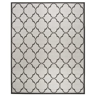 Miesha Light Gray Area Rug Rug Size: Rectangle 8 x 10