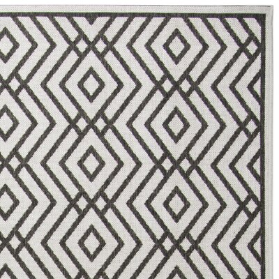 Kallias Contemporary Light Gray Area Rug Rug Size: Rectangle 9 x 12