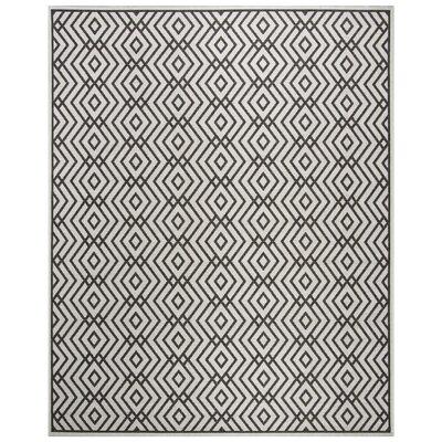 Kallias Contemporary Light Gray Area Rug Rug Size: Rectangle 8 x 10