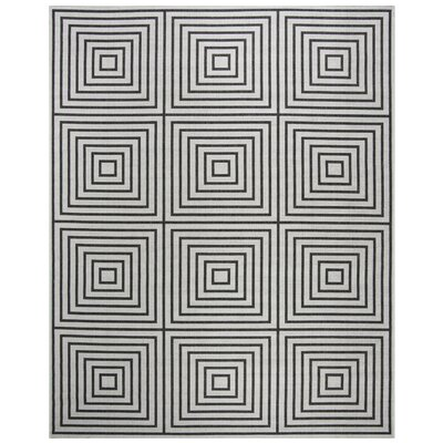 Kallias Contemporary Light Gray Lattice Area Rug Rug Size: Round 67