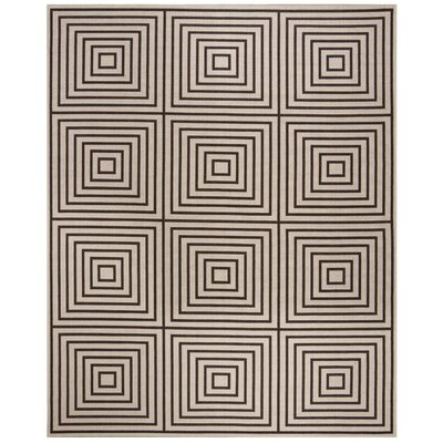 Kallias Contemporary Gray/Beige Area Rug Rug Size: Rectangle 9 x 12