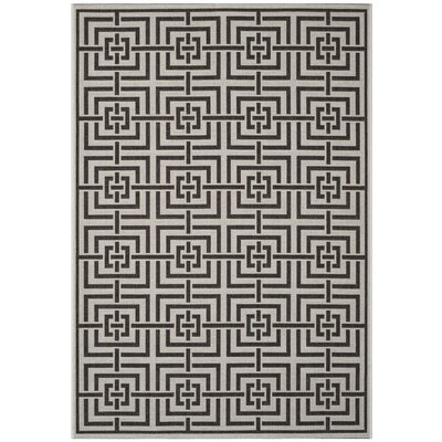 Kallias Light Gray Lattice Area Rug Rug Size: Rectangle 51 x 76