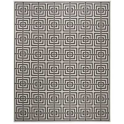 Kallias Light Gray Lattice Area Rug Rug Size: Rectangle 8 x 10