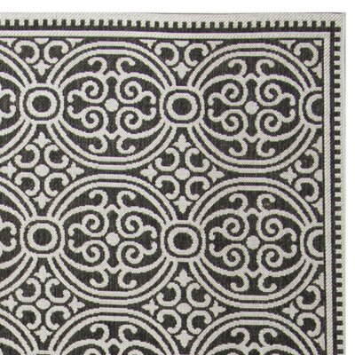 Burnell Light Gray Area Rug Rug Size: Rectangle 8 x 10