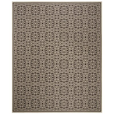 Burnell Brown Area Rug Rug Size: Round 67