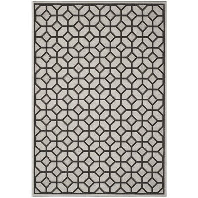 Kelli Light Gray Area Rug Rug Size: Rectangle 51 x 76