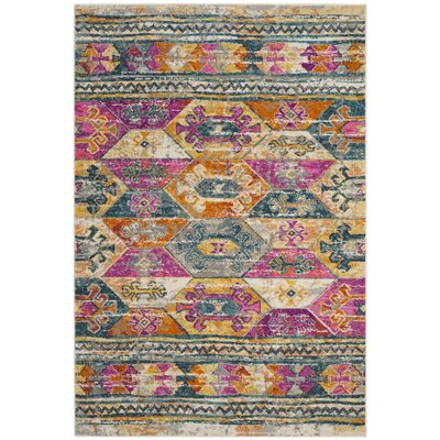 Esparza Pink Area Rug Rug Size: Rectangle 3 x 5