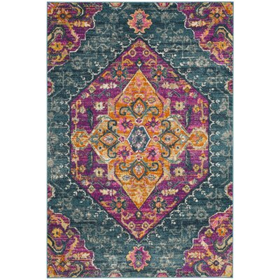 Esparza Orange Area Rug Rug Size: Round 67