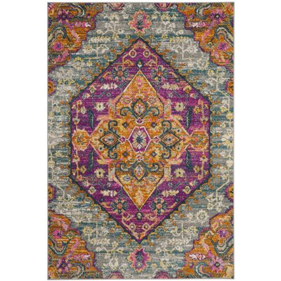 Esparza Light Gray Area Rug Rug Size: Rectangle 3 x 5