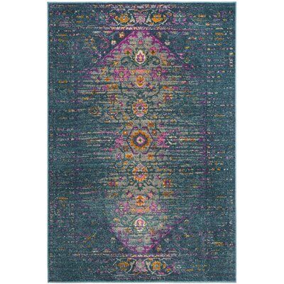 Esparza Blue Area Rug Rug Size: Rectangle 3 x 5