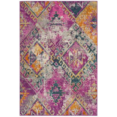 Esparza Contemporary Fuchsia Area Rug Rug Size: Rectangle 6 x 9