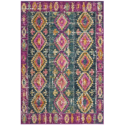Esparza Fuchsia Area Rug Rug Size: Rectangle 4 x 6