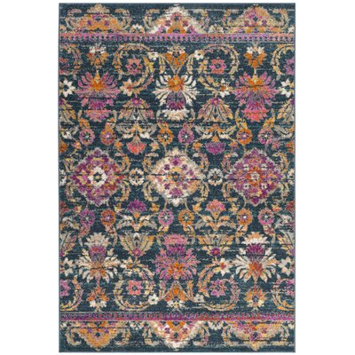 Esparza Boho Blue Area Rug Rug Size: Rectangle 4 x 6