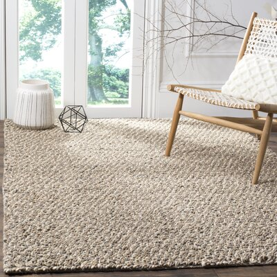 Langlois Shag Hand Tufted Gray Area Rug Rug Size: Rectangle 6 x 9