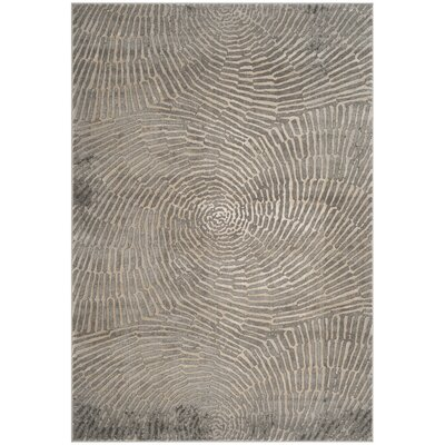 Wendi Contemporary Taupe Area Rug Rug Size: Rectangle 53 x 76