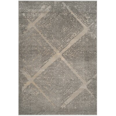 Wendi Taupe Area Rug Rug Size: Rectangle 53 x 76