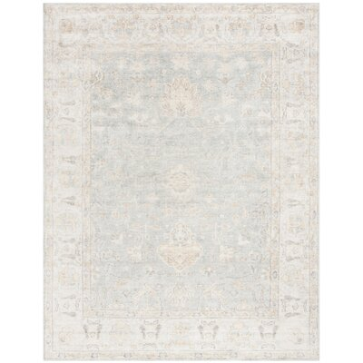 Brune Hand Tufted Light Blue Area Rug Rug Size: Rectangle 9 x 12