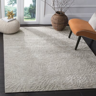 Juhi Hand Tufted Gray Area Rug Rug Size: Rectangle 9 x 12