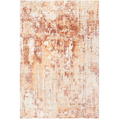 Issouf Hand Tufted Orange Area Rug Rug Size: Rectangle 9 x 12