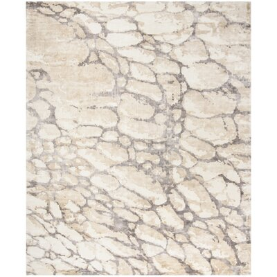Wynkoop Hand Tufted Gray/Beige Area Rug Rug Size: Rectangle 9 x 12