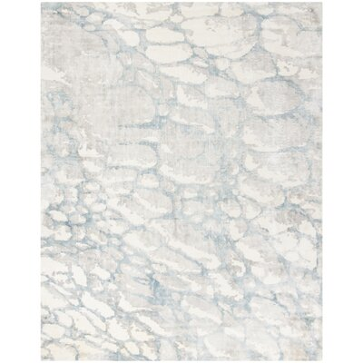 Wynkoop Hand Tufted Turquoise/Gray Area Rug Rug Size: Rectangle 9 x 12