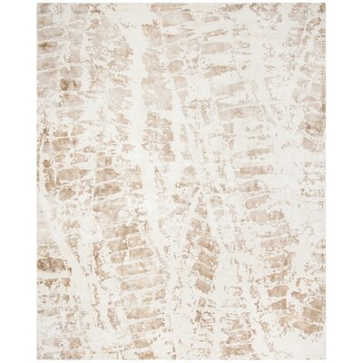 Issouf Rustic Hand Tufted Ivory Area Rug Rug Size: Rectangle 6 x 9