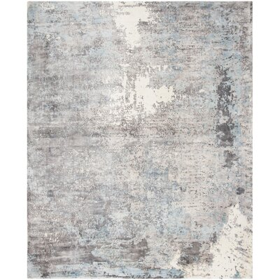 Issouf Hand Tufted Rectangle Gray Area Rug Rug Size: Rectangle 8 x 10