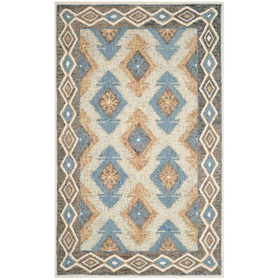 Sebrite Hand Tufted Wool Blue Area Rug Rug Size: Rectangle 5 x 8