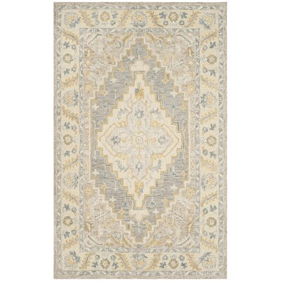 Nichole Hand Tufted Wool Beige Area Rug Rug Size: Rectangle 4 x 6